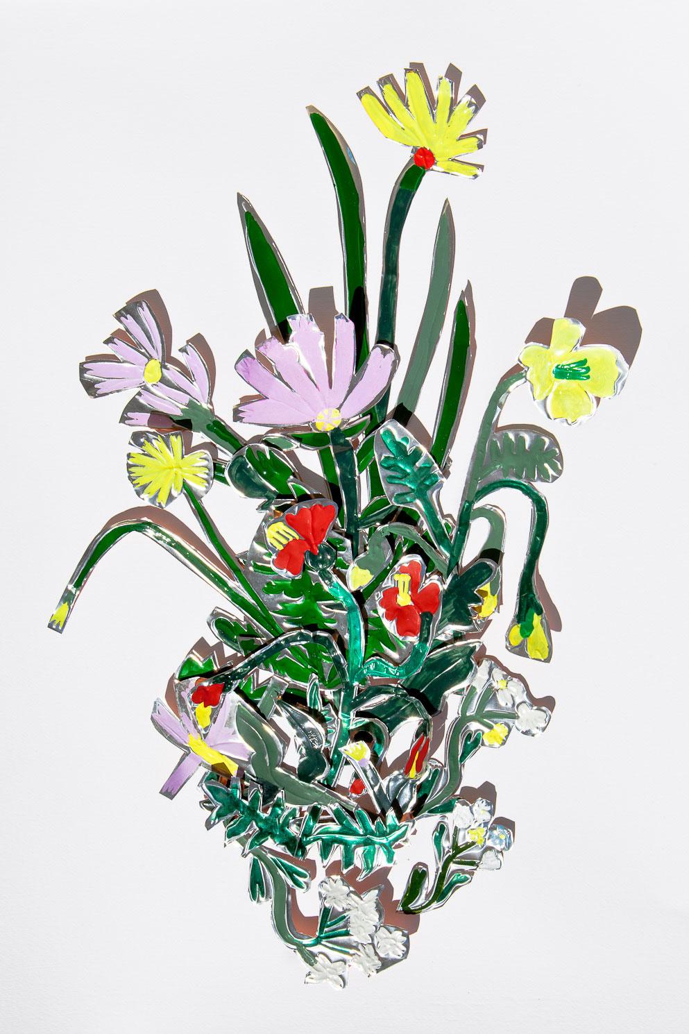flower ex-voto metal garden