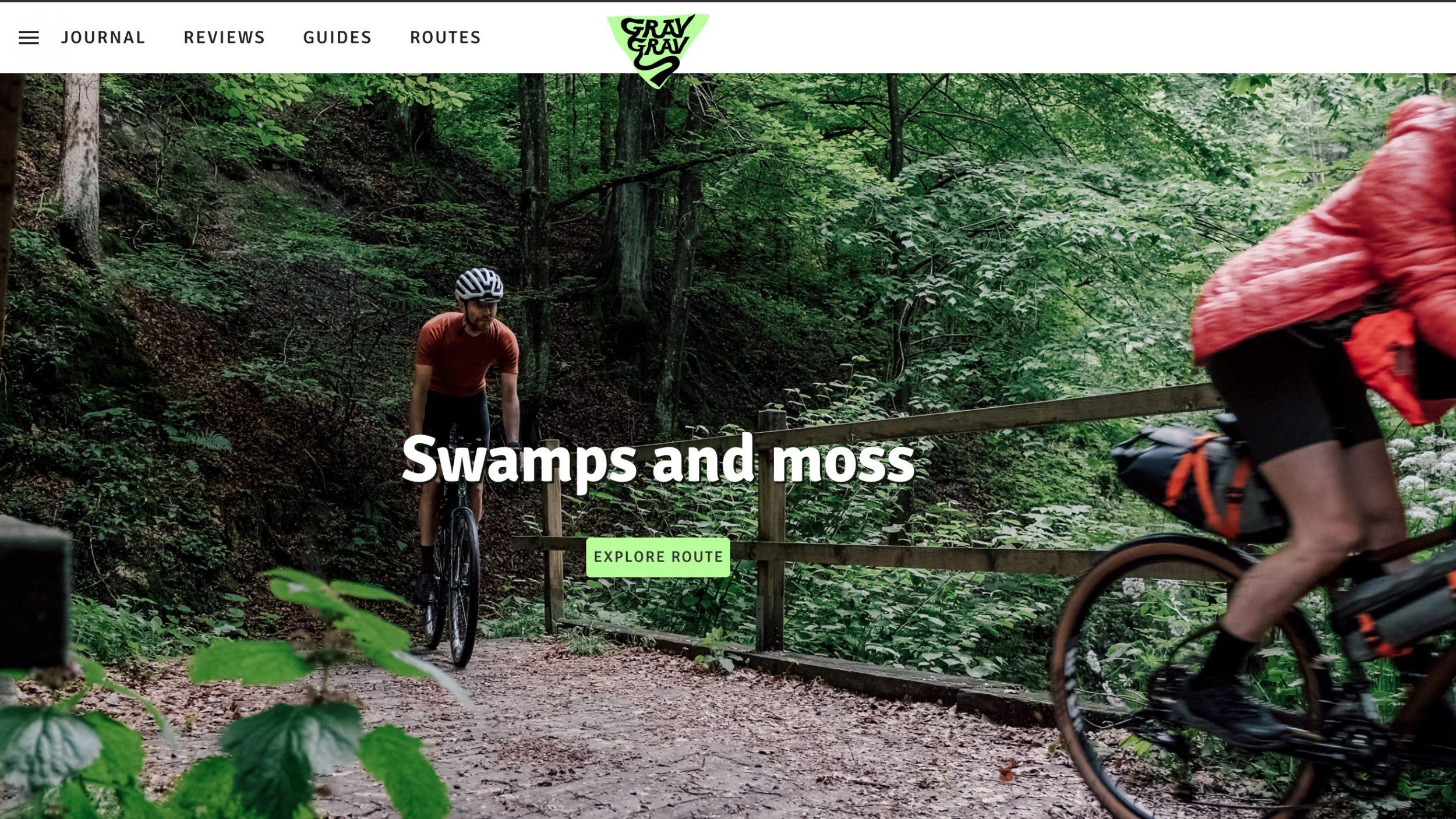 gravgrav Homepage design
